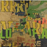 159. In the style of Mimmo Rotella