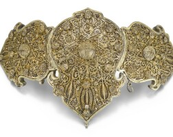 253. a silver-gilt belt buckle, ottoman provinces, probably greece, 18th/19th century | belt buckle