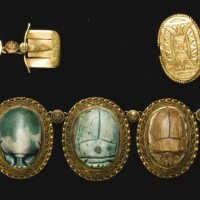 85. nine egyptian steatite scarabs, 2nd intermediate period/19th dynasty, 1640-1190 b.c., and later