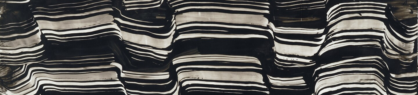 Behjat Sadr, Untitled, 1974. Oil on paper pasted on hardboard, 92 x 140 cm, private collection
