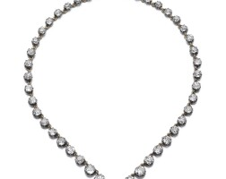 20. diamond necklace,late 19th century
