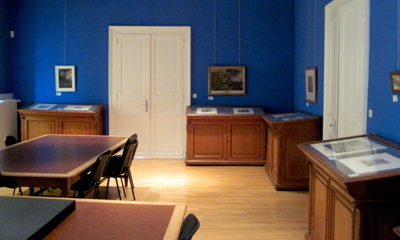 Interior view of the Cabinet des Estampes et des Dessins in Strasbourg.