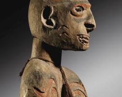 124. statue, asmat, irian jaya,indonésie |