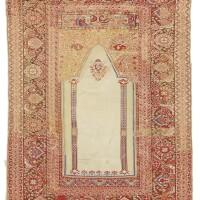 55. a 'transylvanian' style ghiordes prayer rug, west anatolia