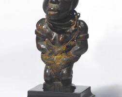 99. kongo-vili kneeling power figure, democratic republic of the congo