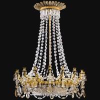 2. an important gilt-bronze, cutcrystal and glasschandelier,louis-philippe, circa 1830-1840