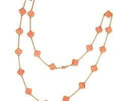 1601. coral necklace, 'alhambra', van cleef & arpels