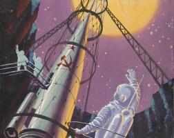 """11. sokolov, andrei. """"на спутнике марса"""" [on the satellite of mars], circa 1967"""
