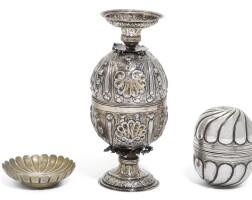 307. a german silver double-beaker, tobias hallaicher, augsburg, 1692 |