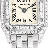 151. cartier | panthére de cartier, reference 2363 a white gold and diamond-set wristwatch with bracelet, circa 1998