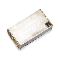 508. silver and sapphire vanity case, chaumet