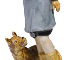 409. lady afraid of a dog: a soviet porcelain figure, lomonosov porcelain factory, leningrad, circa 1932