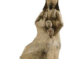 136. statuette en terre cuite dynastie des wei du nord ou postérieure |