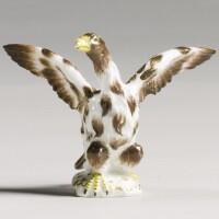 30. a rare meissen miniature figure of an eagle circa 1745-50