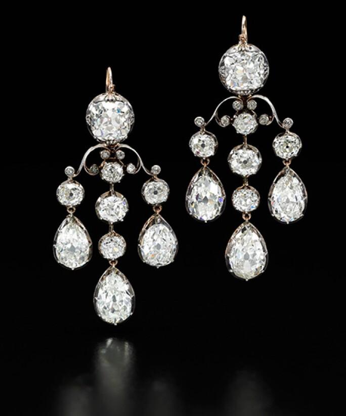 Bourbon Parma diamond drop earrings