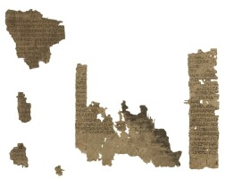 1. homer, iliad, in greek, epic verse in dactylic hexameters, manuscript on papyrus [egypt, first century bc. to first century ad.]