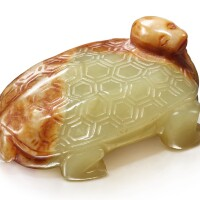 1218. a yellow and brown jade carving of a tortoise qingdynasty |