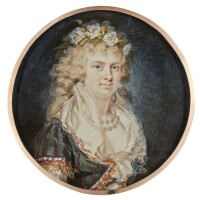312. augustin ritt | portrait of a lady, circa 1790