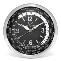 2509. girard-perregaux | a stainless steel world time wall clockcirca 2005