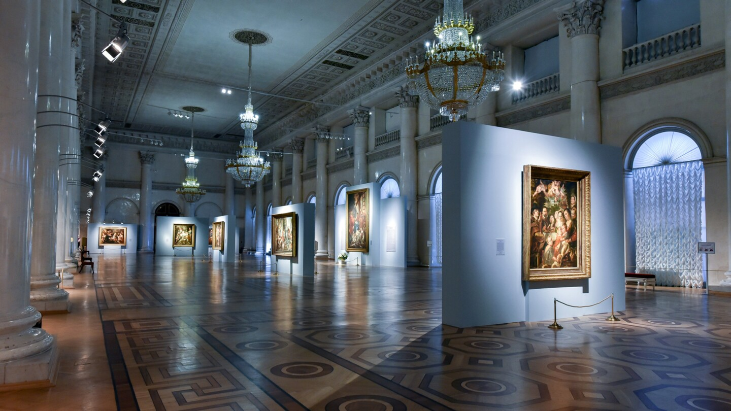 Installation shot of Jacob Jordaens (1593–1678). Paintings and Drawings from Russian Collections, open through 5 May 2019