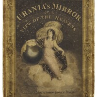 185. leigh, urania's mirror, london, 1834, box of coloured cards of the zodiac and accompanying book
