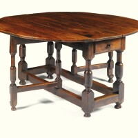 12. a william and mary elm and oak oval gateleg table last quarter 17th century