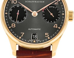 169. iwc   dragon year edition portugieser, reference 5001 a limited edition pink gold wristwatch with date and power reserve indication, circa 2013
