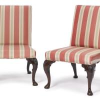 177. a pair of george ii mahogany side chairs circa 1740