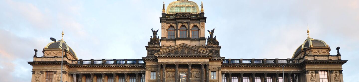 Exterior view of the National Museum of Prague, Wenceslas Square.