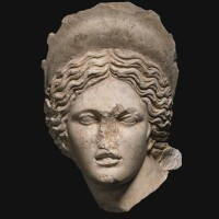 17. a roman marble head of aphrodite, 2nd half of the 2nd century a.d. | a roman marble head of aphrodite