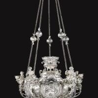 24. an impressive bohemian five-light silver chandelier, michael josef cocsell, 1723