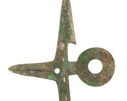5003. a rare bronze dagger, ge early western zhou dynasty, 11th - 10th century b.c. |