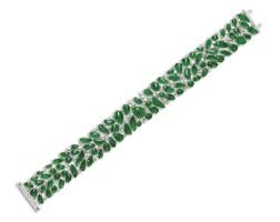 1651. jadeite and diamond bracelet |