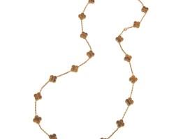 6. tiger's eye 'vintage alhambra' necklace, van cleef & arpels