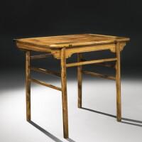 490. a hardwood side table (jiuzuo) qing dynasty