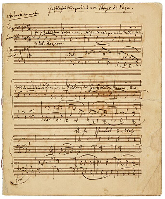 A Distinguished Collection: Letters from the Great Composers