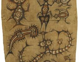 31. barkcloth painting, lake sentani, papua, indonesia