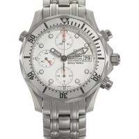 11. omega | a stainless steel automatic chronograph wristwatch with registers, date and braceletcase 60041055 seamaster professional circa 2000