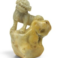 78. a soapstone 'lion' seal 17th/18th century