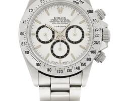 45. 勞力士(rolex) | 16520型號「'zenith' daytona」精鋼計時鍊帶腕錶,年份約1988。