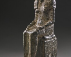 6. an egyptian steatite figure of the lady iset, chantress of sobek, 19th dynasty, reign of ramesses i/early in the reign of ramesses ii, circa 1292-1250 b.c.