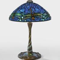 "7. tiffany studios | ""dragonfly"" table lamp"