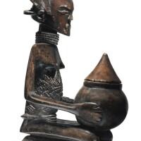 132. luba shankadi bowl bearing figure, democratic republic of the congo
