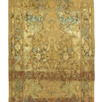 9. a 'polonaise' silk and metal-thread rug, isphahan or kashan, central persia