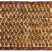 12. textile brodé d'oiseauxparacas ancien / proto nazca600-100 av. j.-c. |