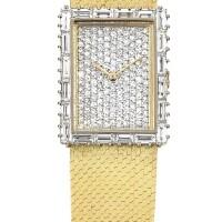 13. audemars piguet   a yellow gold and diamond-set bracelet watch, circa 1970