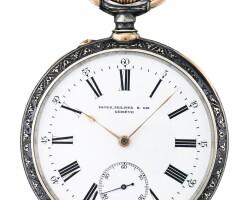 192. 百達翡麗(patek philippe) | 銀製及黑金懷錶,1894年製。