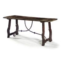 17. a spanish walnut table 17th century