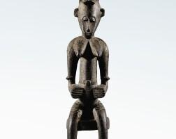 68. statue, sénufo, côte d'ivoire  