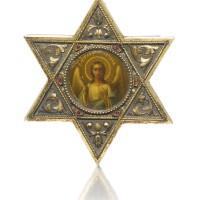 202. a fabergé jewelled silver-gilt icon, workmaster hjalmar armfeldt, st petersburg, 1904-1908